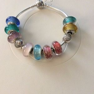 50470b44f Pandora Jewelry | Disney Princess Murano Set Of 9 New | Poshmark